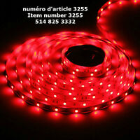 16.4Ft 5M Bare Board 5050 SMD 30LED/M 150 LED RED Flexible Strip