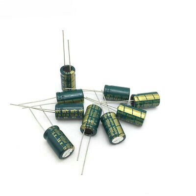 100uf 50v Low Esr 105c Electrolytic Radial Capacitors - Package Of 5 Us Stock