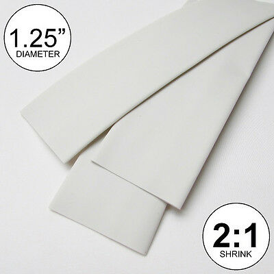 1.25 Id White Heat Shrink Tube 21 Ratio Wrap 2x24 4 Feet Inchftto 30mm