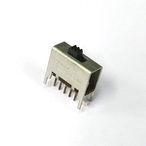 Alcoswitch MSS2200 DPDT ON-ON, P.C. Mount Slide Switch,  0.3A @ 125V AC