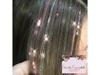 Hair Extension Unicorn Hair Glitter/Tinsel Hair available