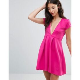 Never used skater dress by twin sisters - pink