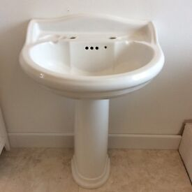 Bathroom Sink and Pedestal Washbasin