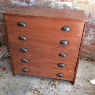 Vintage set of wood drawers
