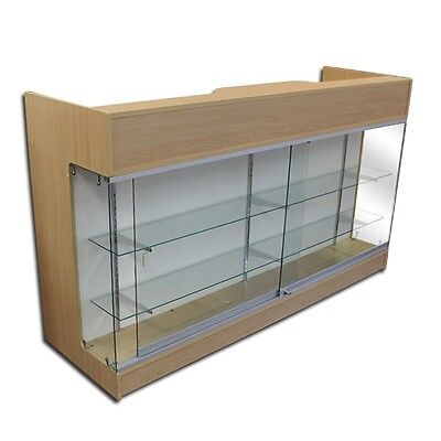 6 Maple Wooden Knockdown Showcase Pos Counter 21d X 42h