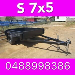 7x5 BOX TRAILER EXTRA HEAVY DUTY 1 PIECE FOLD FULL CHECKER PLATE South Windsor Hawkesbury Area Preview
