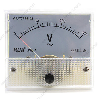 1 Ac150v Analog Panel Volt Voltage Meter Voltmeter Gauge 85l1 Ac0-150v