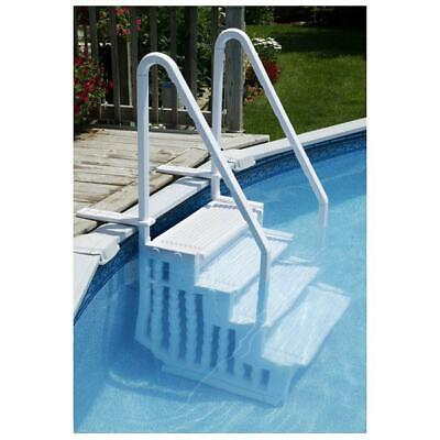 NE113 Resin Easy Pool Steps For Above Ground Pools, Anchors Included