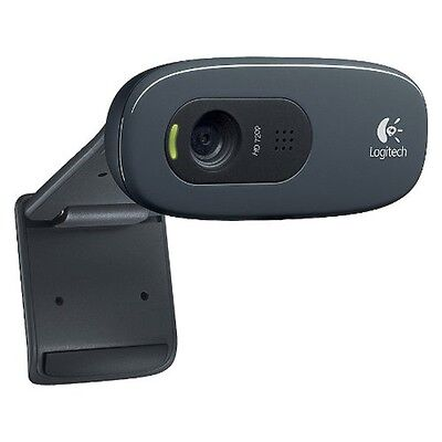 Logitech C270 3.0MP HD Webcam w/ Mic for Desktop Laptop PC on Rummage