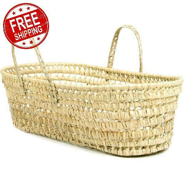 Basket Organic Palm Leaf Moses Multi Functional Baby Nursery Storage Basket