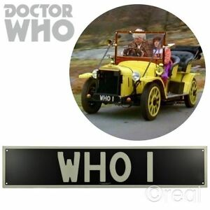 New Doctor Who WHO 1 Number Plate Tin Sign Bessie BBC Officially Licensed