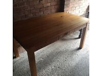 SOLID WOOD OAK TABLE LARGE SIZE DELIVERY