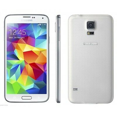 $149.99 - Samsung Galaxy S5 SM-G900A-16GB-White UNLOCKED GSM Smartphone AT&T T MOBILE NEW