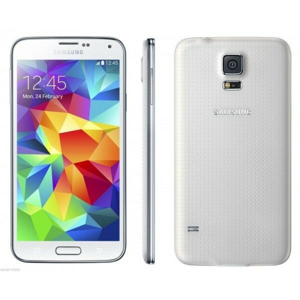 Samsung Galaxy S5 SM-G900A-16GB-White UNLOCKED GSM Smartphone AT&T TMOBILE