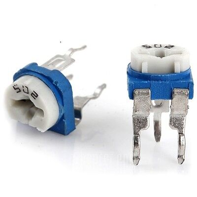 20pcs 5k 502 Adjustable Resistor Trimmer Potentiometer 0.1w 50v - Us Seller