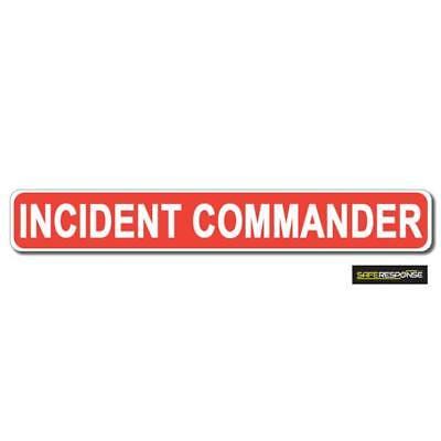 Magnetic sign INCIDENT COMMANDER Red / White vehicle Magnet MG196 ()