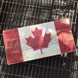 Rustic Canada Flag - Mini - Canadian - Pallet Wood