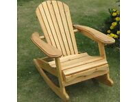 Childs Wooden Outdoor Rocking Chair