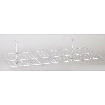 Lot Of 8 New White Flat Shelf Fits Slatwall Grid Pegboard 23-12w X 12d