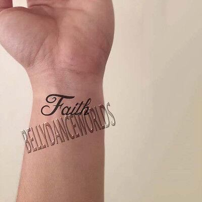 Tattoos Of Love (1 SET OF 4 INSPIRATIONAL TEMPORARY TATTOO QUOTE FAITH HOPE LOVE DESTINY)