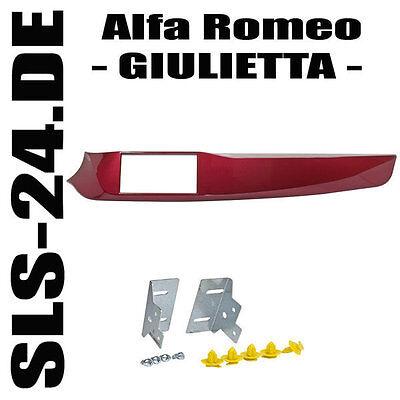 Alfa Romeo Giulietta Doppel 2 DIN KIT Einbau Rahmen Radio Blende Radioblende ROT 2 Din Kit