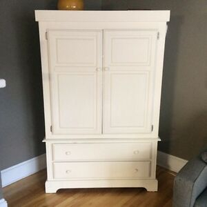 White custom built hutch