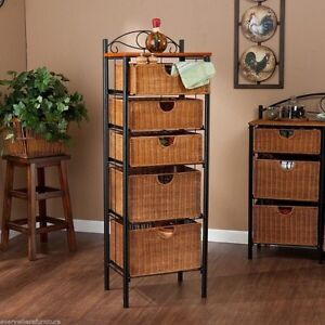 Looking for a wicker shelving unit.