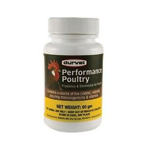 Performance Poultry Vitamins Electrolytes Probiotics Water 60gm Makes 60 gallons