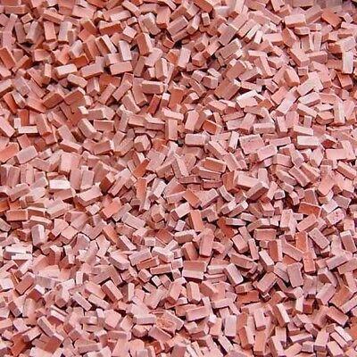 Ziegelsteine dunkelrot, Juweela 23029, 1000 Stück, 1:32 bis 1:35