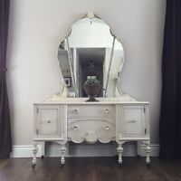 SOLD Gorgeous antique vanity from 1930's