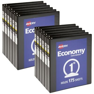 Avery Economy View 3-ring Binder 1 12 Round Rings White Pack Of 12
