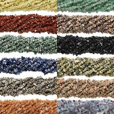 50 Natural Genuine Gemstone Stone Chip Beads In an Assorted Mix of Medium Sizes