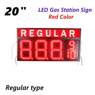 20 Led Gas Station Electronic Fuel Price Sign Red Motel Price Sign Regular
