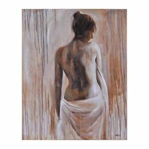 """'Modesty' by Mia Archer Hand-Painted Canvas Art 50""""x40""""(HUGE)"""