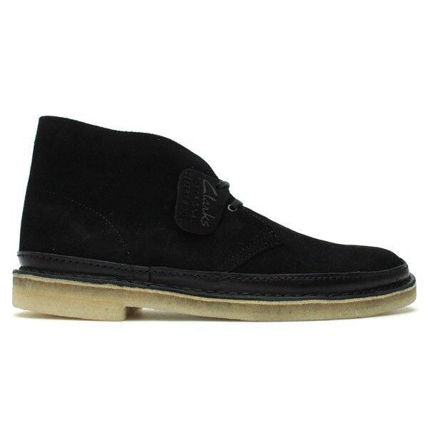 Clarks Originals Desert Guard Black Suede Men's Shoes 62131 1