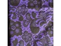 Purple and black cotton fabric