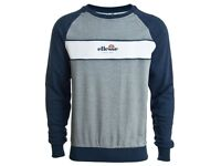 Ellesse Antognoni Crew Neck Dress Blues Sweatshirt Brand New Size Medium