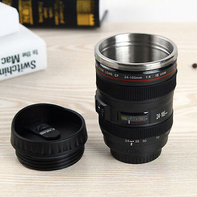 Camera Lens Cup  Macro 300Mm Thermos Travel Tea Coffee Stainless Mug Cup Hot