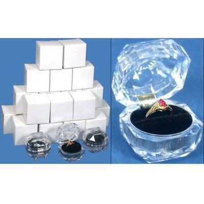 24 Ring Boxes Gift Display Crystal Box Case Findingking