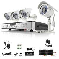Système  de Caméra de surveillance 4 Cannaux , Kit Pré-installé