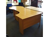 Managers Desk with Circular Meeting End