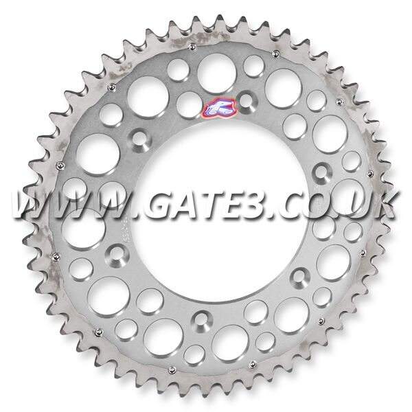 HONDA CR500 CR 500 1984-2001 RENTHAL TWIN RING 50-TOOTH SILVER REAR SPROCKET