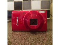 Canon IXUS 180 Compact Camera - Red with 4GB SD Card