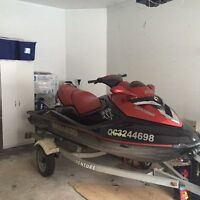 SeaDoo RXT supercharged with Trailer
