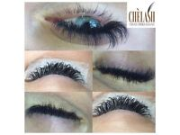 semi permanent individual mink fur lashes / real mink eyelash extensions/definition brows/LvL lash