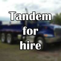 Tandem Dump Truck available for hire