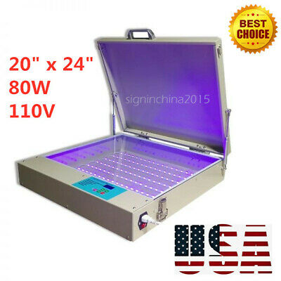 20 X 24 80w 110v Led Uv Exposure Unit For Screen Printing Tabletop Precise