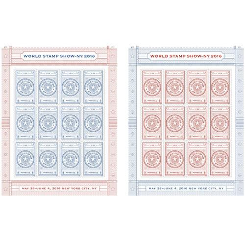 USPS New World Stamp Show NY- 2016 stamp folio of 24