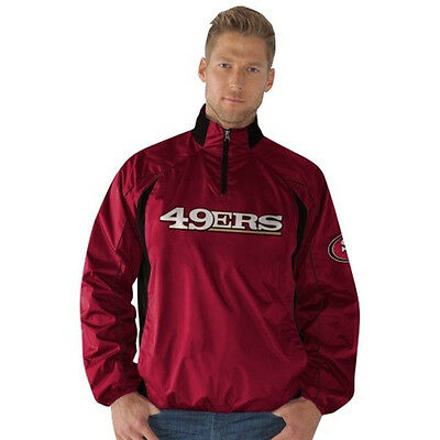 GIII San Francisco 49ers LARGE Mens PRE GAME Quarter-Zip Pullover Jacket Fan Apparel & Souvenirs