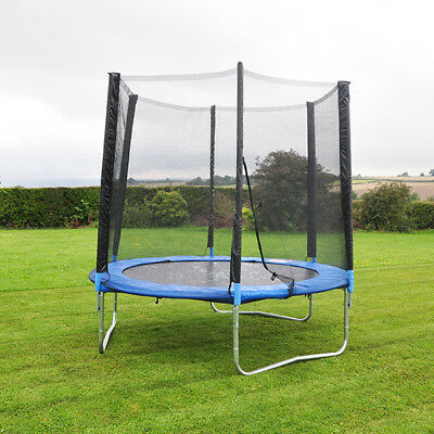 8FT TRAMPOLINE WITH SAFETY NET ENCLOSURE OUTDOORS KIDS CHILDRENS ADULTS BOUNCY